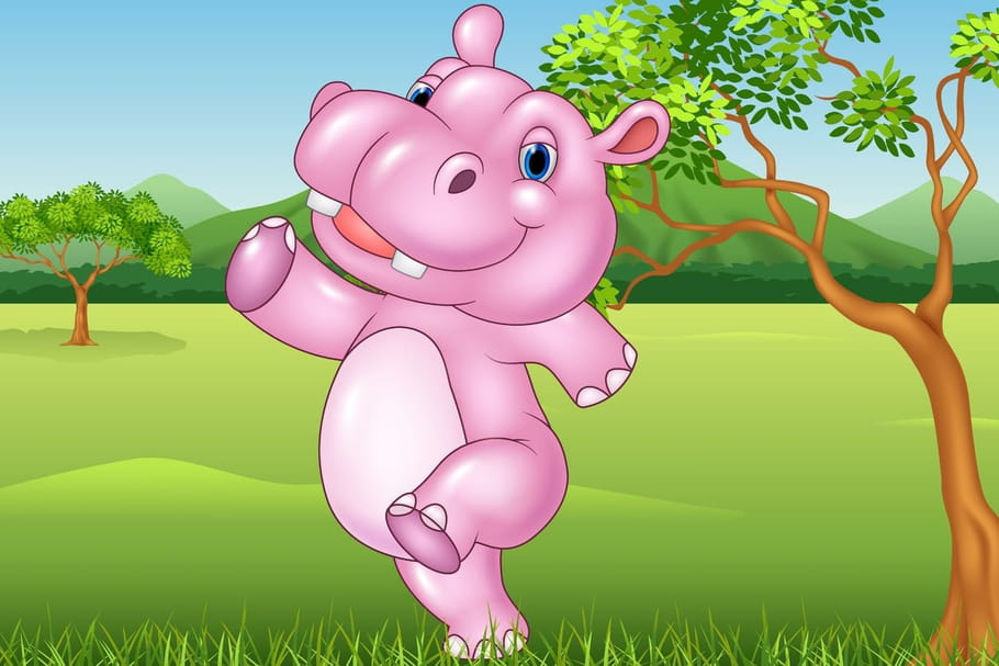 Comptine Grosse dame hippopotame