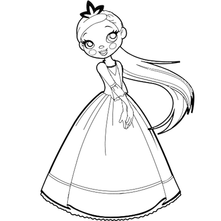 Princesse coloriage my blog - Coloriage de princesse en ligne ...