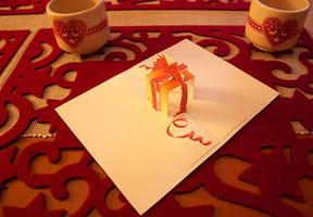 Carte PopUp cadeau de Noël