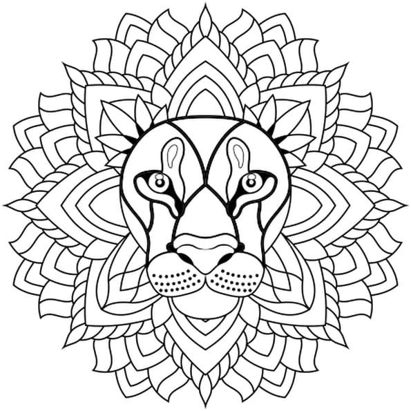 Mandala lion coloriage mandala lion en ligne gratuit a - Imprimer coloriage mandala ...