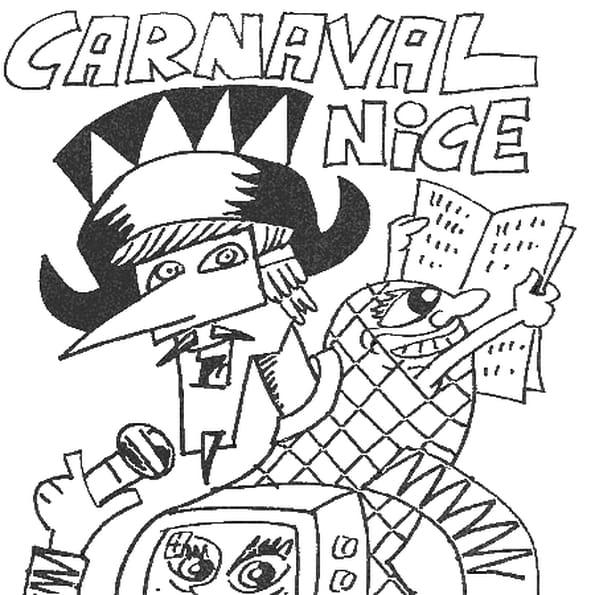 Dessin carnaval de nice a colorier