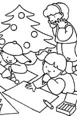 Coloriage dessin de noël en Ligne Gratuit à imprimer