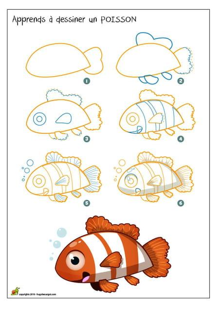 Dessiner un poisson - Dessiner un poisson facilement ...