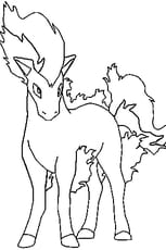 Coloriage Pokémon ponyta en Ligne Gratuit à imprimer