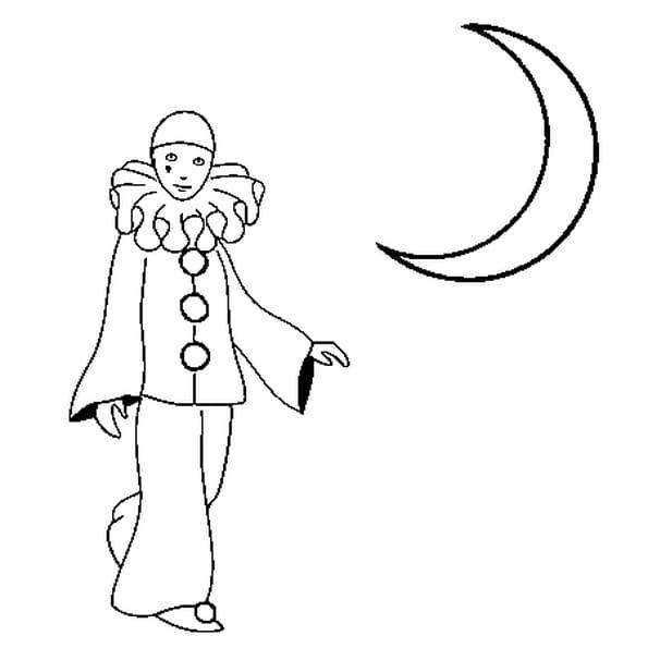 Au clair de la lune coloriage au clair de la lune en - Dessin de pierrot ...