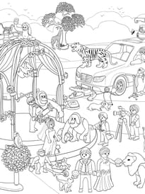 Coloriage Cache-Cache Playmobil mariage