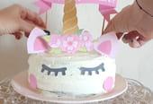 Décoration de gâteau d'anniversaire, un topper Licorne [VIDEO]