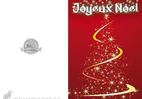 Carte sapin de Noël rouge
