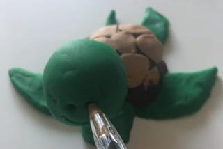 Etape 4: la tête de la tortue