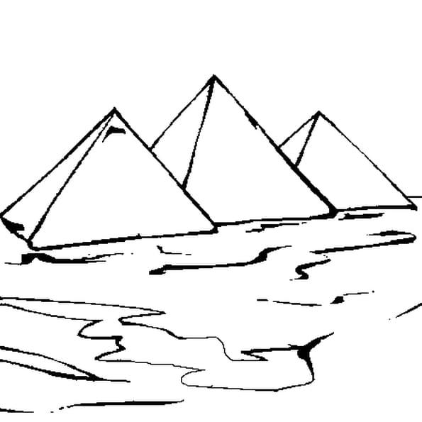 Coloriage pyramides en Ligne Gratuit à imprimer