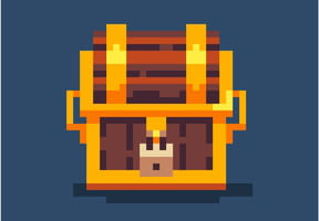 Coffre de Pirate en pixel art