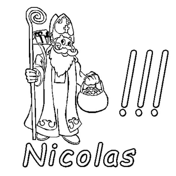 Dessin Nicolas a colorier
