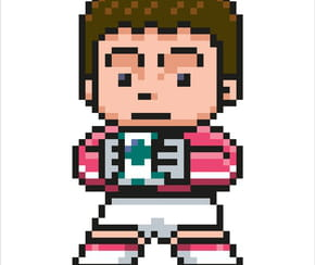 Gardien de football en pixel art