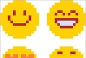 Smileys en pixel art