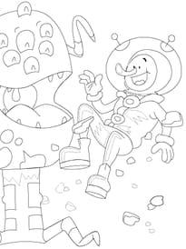 extraterrestre et astronaute