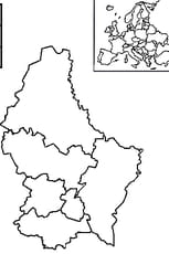 Coloriage carte luxembourg