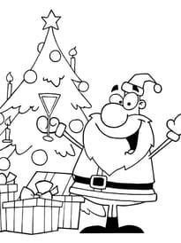Père Noël au pied du sapin