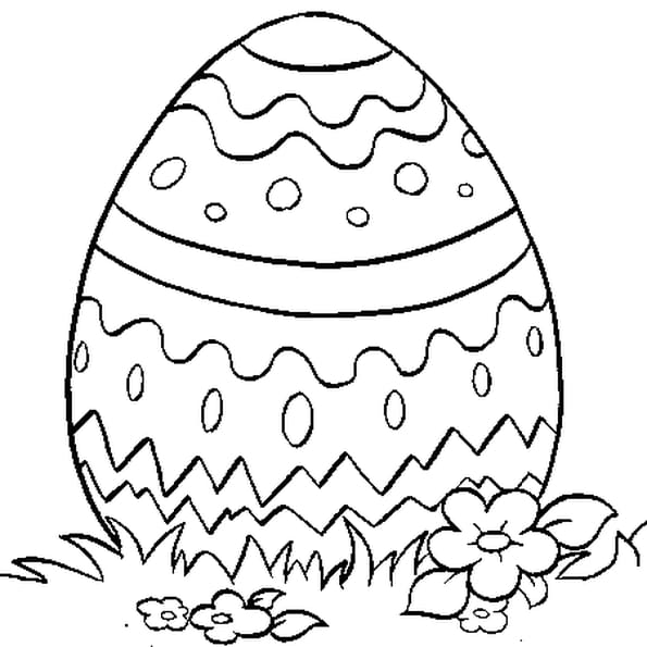 c5d5af1491adf Coloriage œuf en chocolat en Ligne Gratuit à imprimer