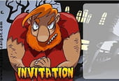 Carte invitation Halloween ogre