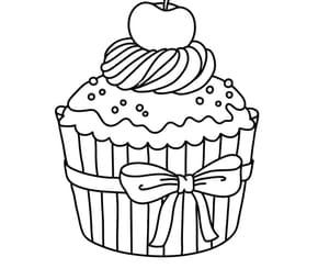 Cupcake cerise