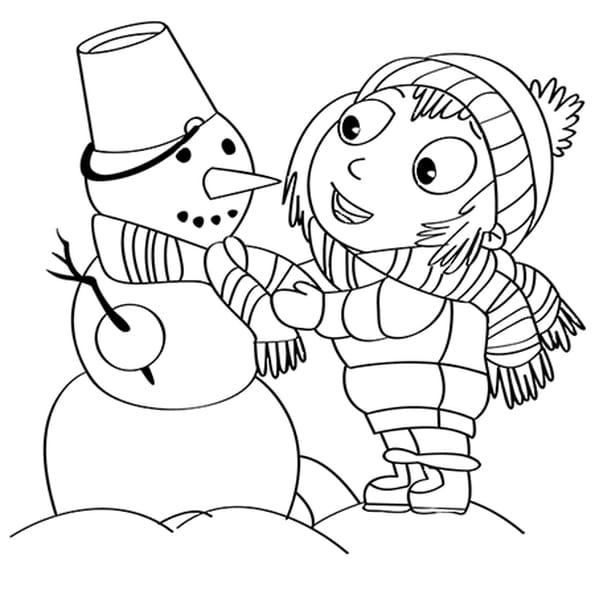 Coloriage Activités de Noël, bonhomme de neige en Ligne Gratuit à imprimer