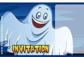 Carte invitation Halloween fantômes