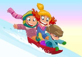 Coloriages luge et sports d'hiver