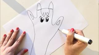 Etape 2: dessine le visage de la girafe