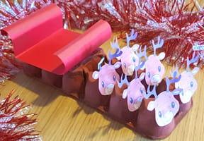 Traineau du père Noël en boite d'œufs [VIDEO]