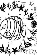 Coloriage Mandala de poisson en Ligne Gratuit à imprimer