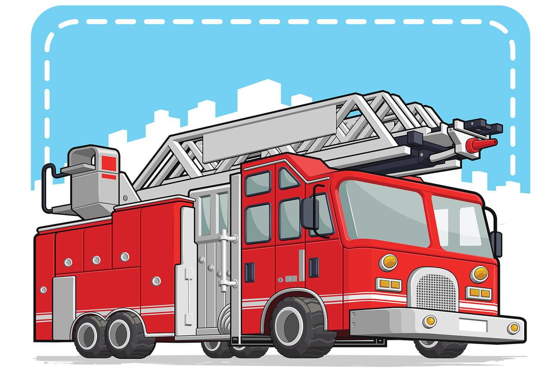 Coloriage camions de pompiers sur - Coloriages pompiers ...