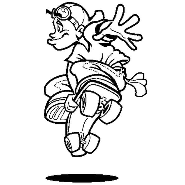 Skate coloriage skate en ligne gratuit a imprimer sur coloriage tv - Dessin skateboard ...