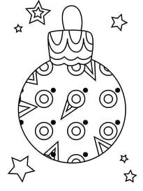 Coloriage boule de Noël aux ronds