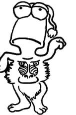 Coloriage SpottyWot Babouin