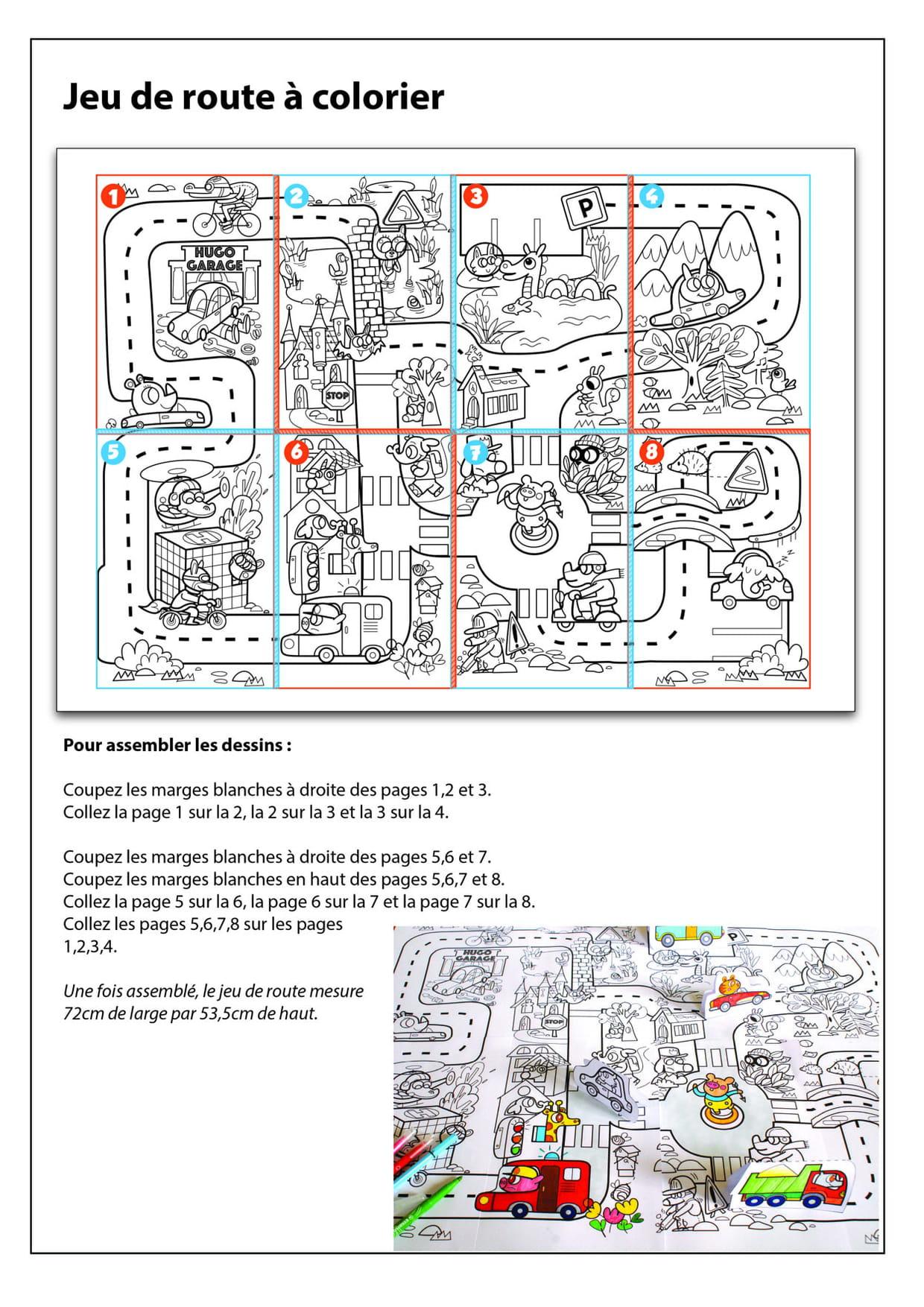 Notice De Montage Du Coloriage Geant Du Jeu De La Route