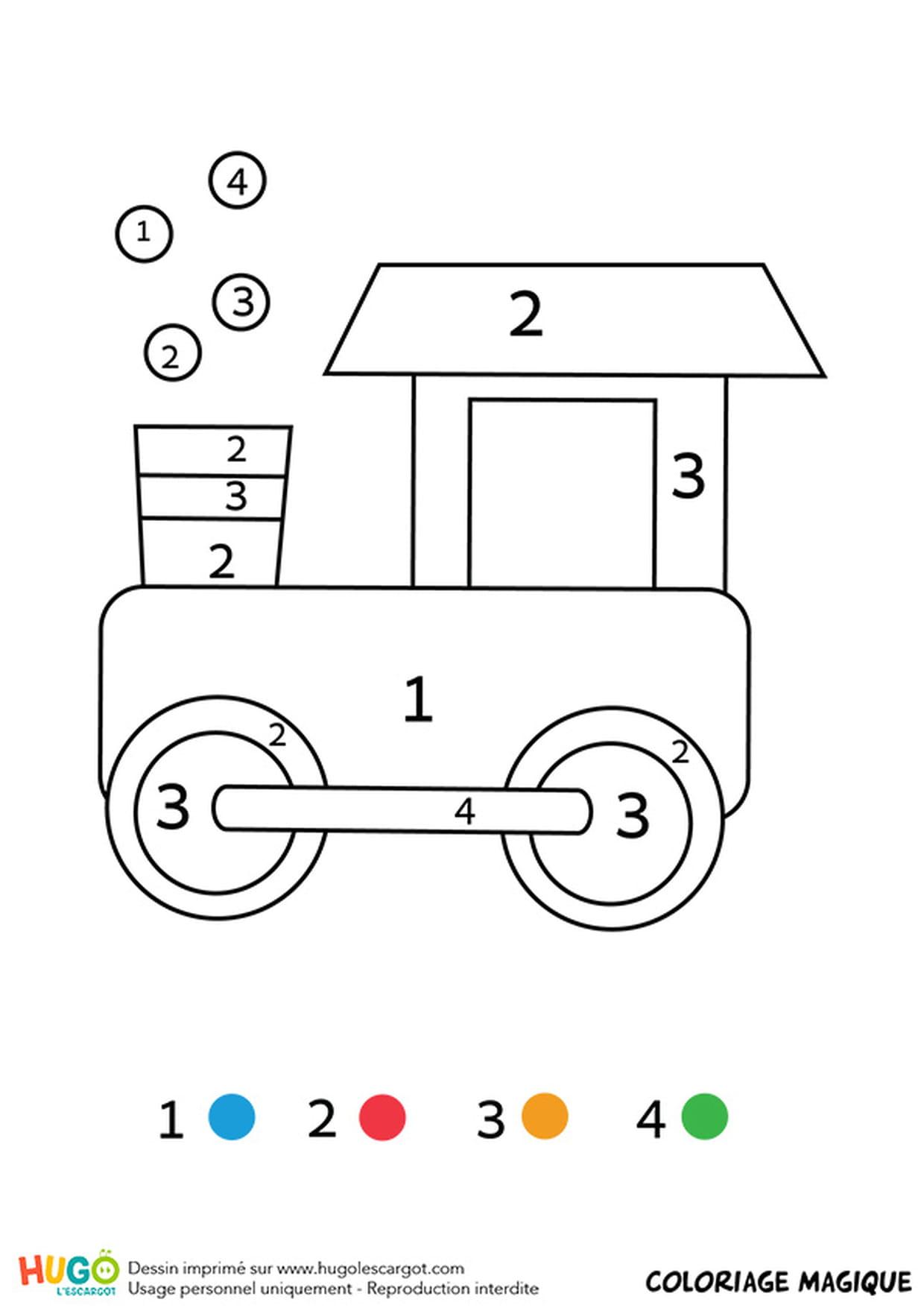 Coloriage Magique Cp Une Locomotive