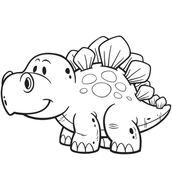 Coloriage Dinosaure Facile en Ligne Gratuit à imprimer