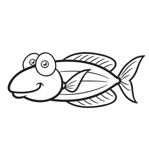 Coloriage poisson guppy en ligne gratuit imprimer - Poisson rouge rigolo ...