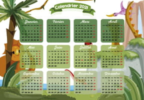 Les dinosaures : calendrier 2021