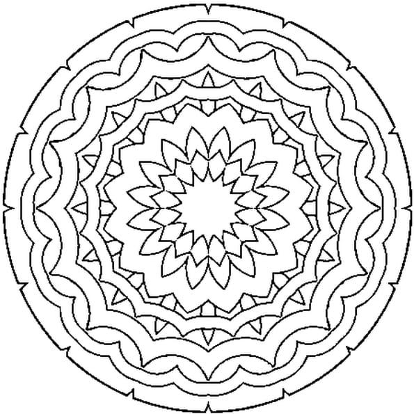 Dessin à Mandala a colorier