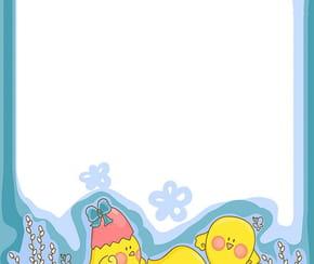 Carte invasion de poussins de Pâques