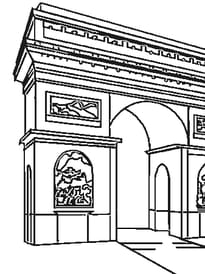 Coloriage Monuments Célèbres Sur Hugolescargotcom