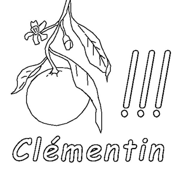 Dessin Clémentin a colorier