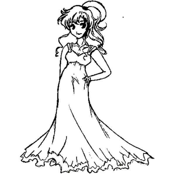 dessin une princesse a colorier
