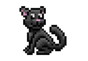 Pixel art Halloween chat noir