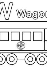 Coloriage W comme Wagon
