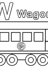 Coloriage W comme Wagon en Ligne Gratuit à imprimer