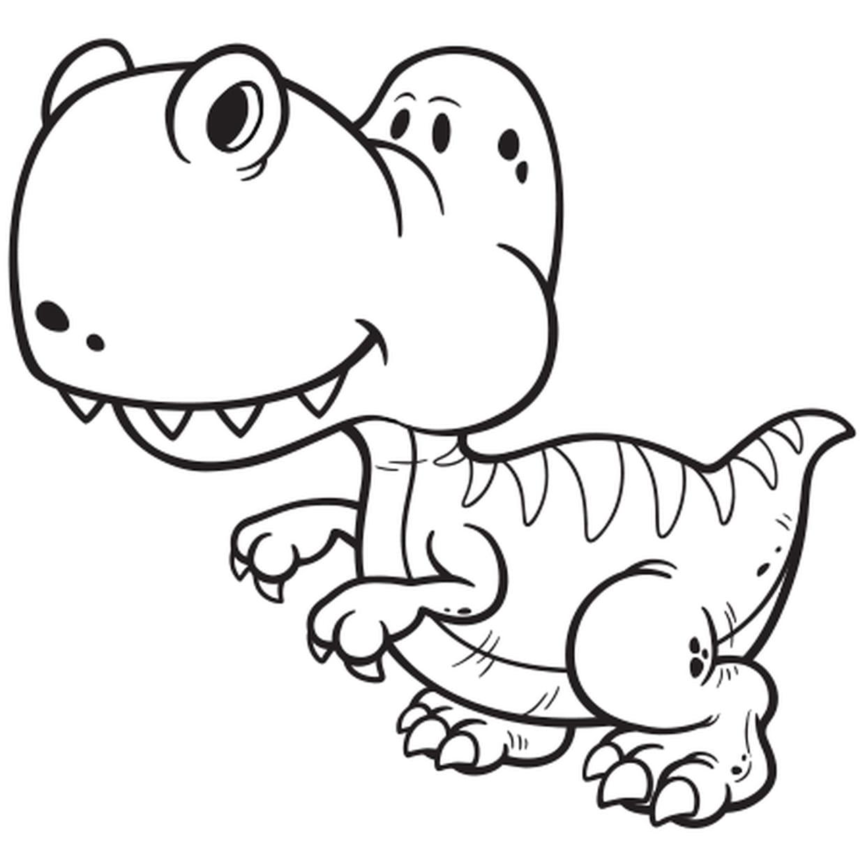 Coloriage Dinosaure Gentil En Ligne Gratuit A Imprimer