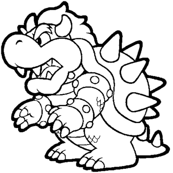 photo comment dessiner bowser