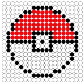 Perles à repasser: Pokéball